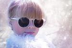 4歳 斜視の影響なのか視力が弱くメガネっ子に